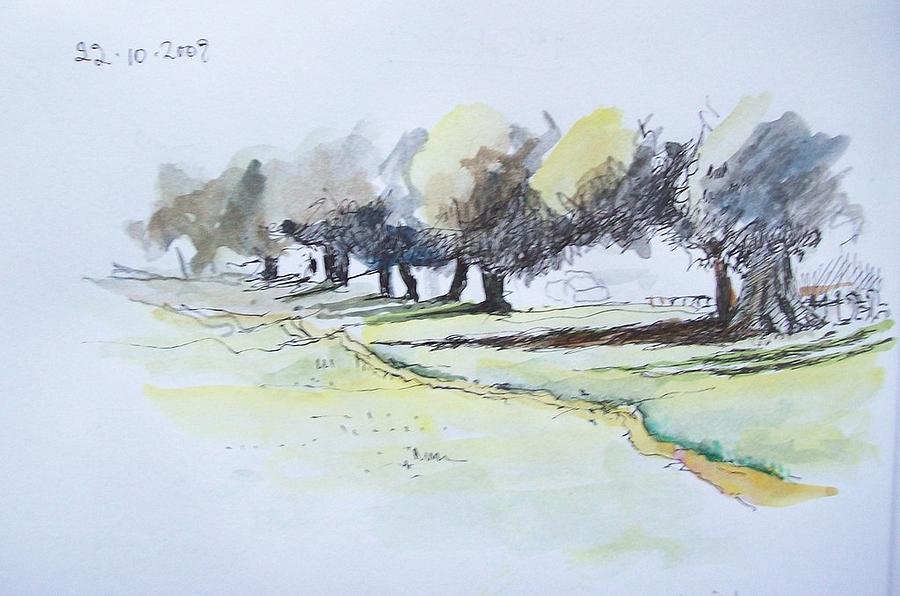 Landscape Painting - Savannah Path by Mary Adam
