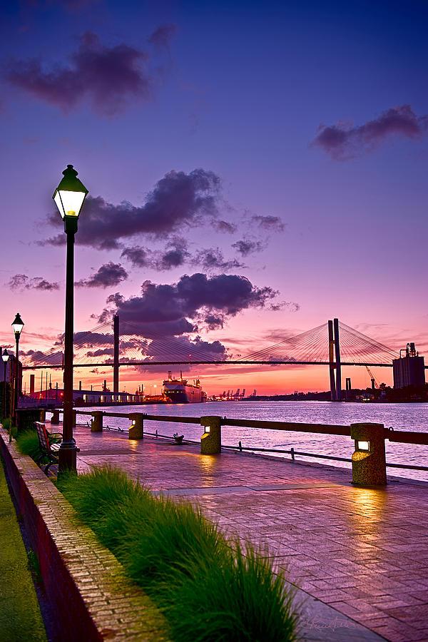 Savannah Photograph - Savannah River Bridge by Renee Sullivan