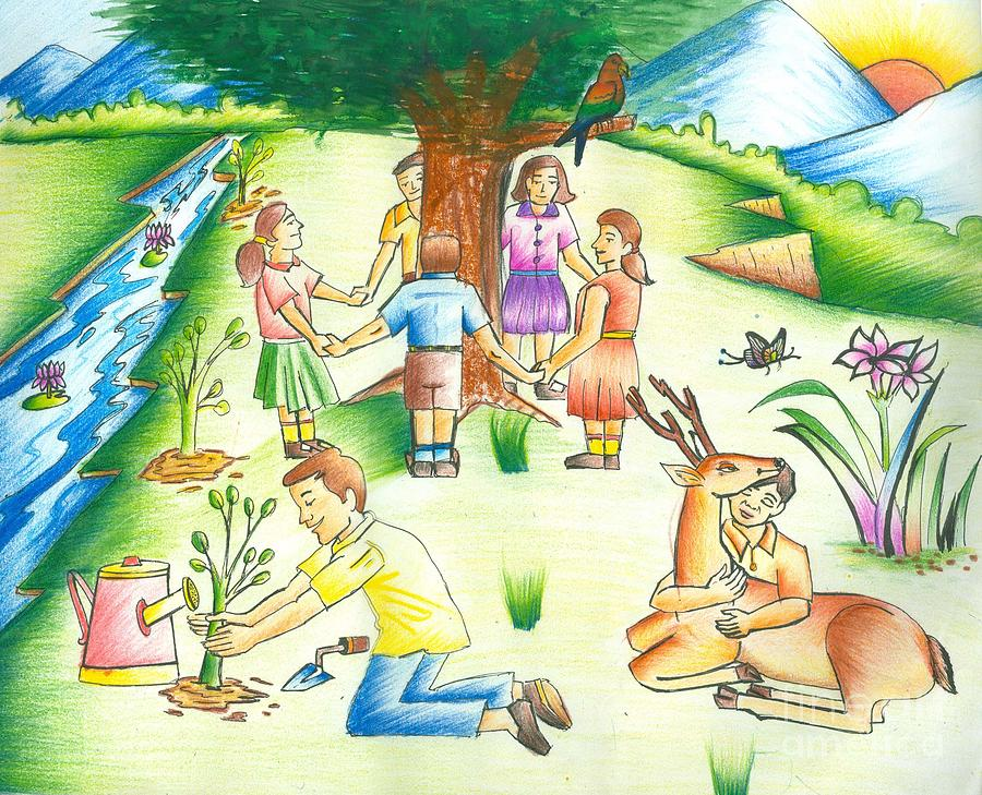 Save earth painting by tanmay singh for Save energy painting