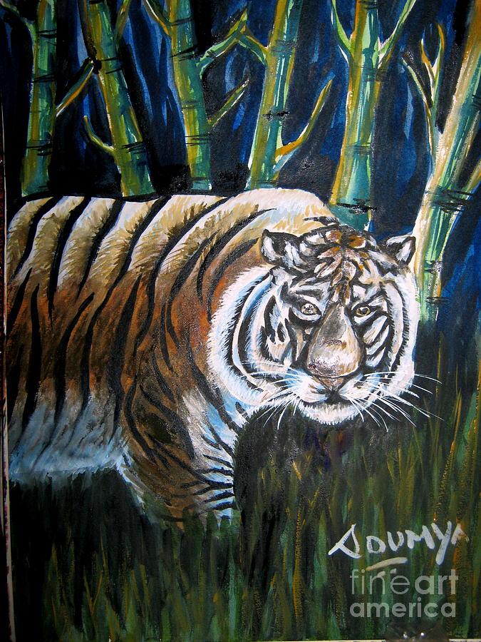 Tiger Painting - Save The Tiger by Soumya Suguna