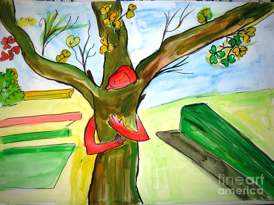 Tree Painting - Save Trees by Sonali Singh