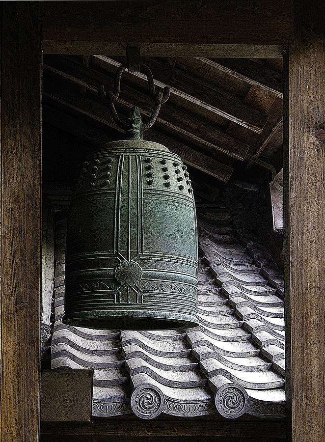 Japan Digital Art - Saved By The Bell by Barbara Bitner