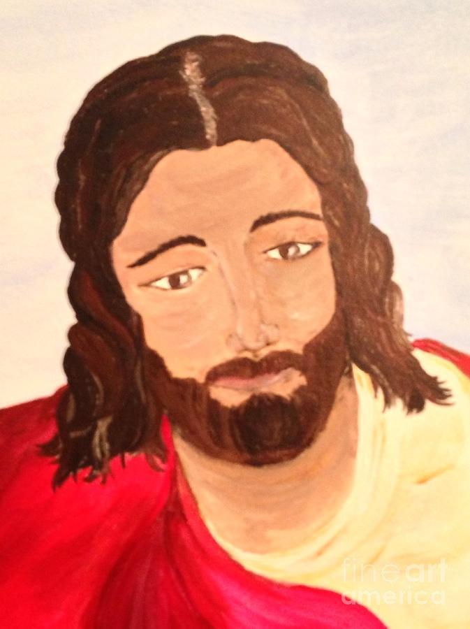 Jesus Painting - Savior by Michelle Bentham