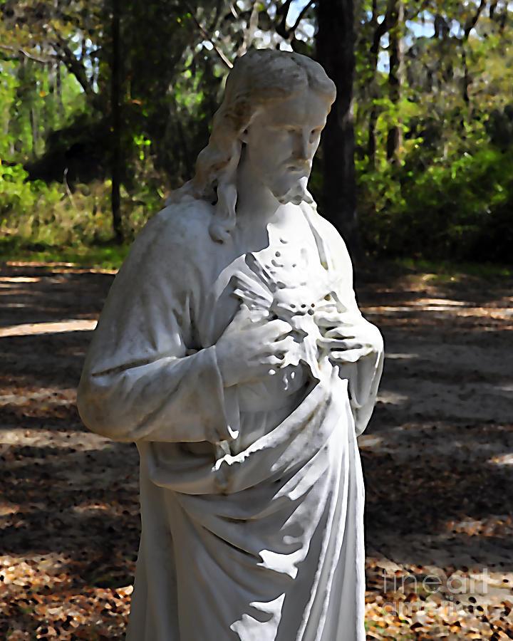 Jesus Photograph - Savior Statue by Al Powell Photography USA