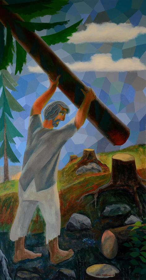 Man Painting - Saviour by Jukka Nopsanen