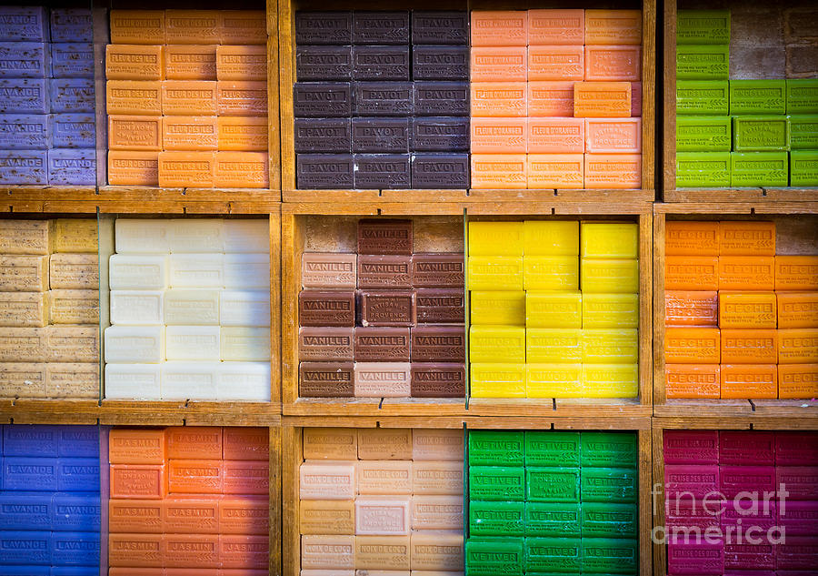 Color Photograph - Savons Provencale by Inge Johnsson