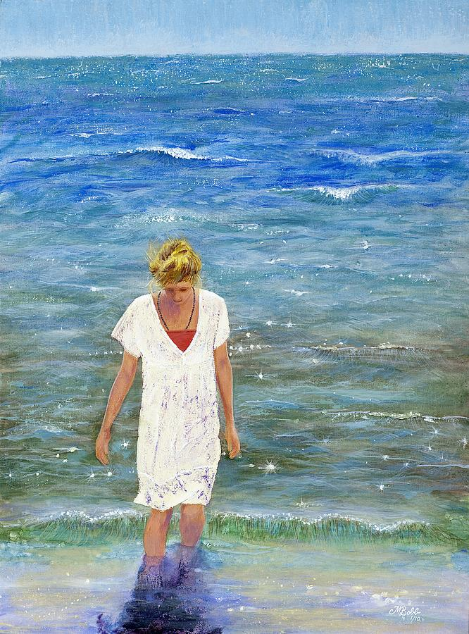 Seascape Painting - Savoring The Sea by Margaret Bobb