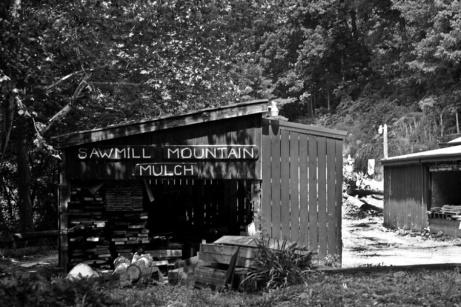 Sawmill Photograph - Sawmill In Black And  White by John Holloway