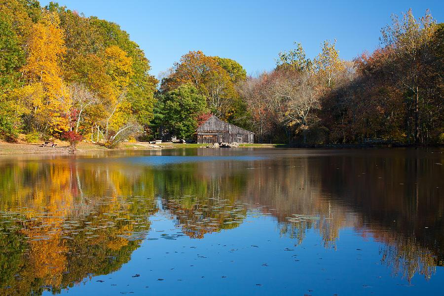 Sawmill Pond Photograph - Sawmill Pond - Ledyard CT by Kirkodd Photography Of New England