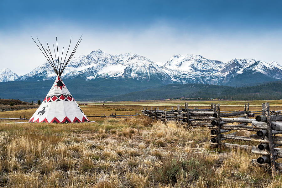 Sawtooth Mountains, Tipi, Stanley Photograph by Witold Skrypczak