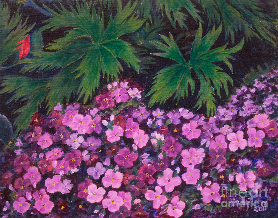 Saxifrage Prints Painting - Saxifrage by Milly Tseng