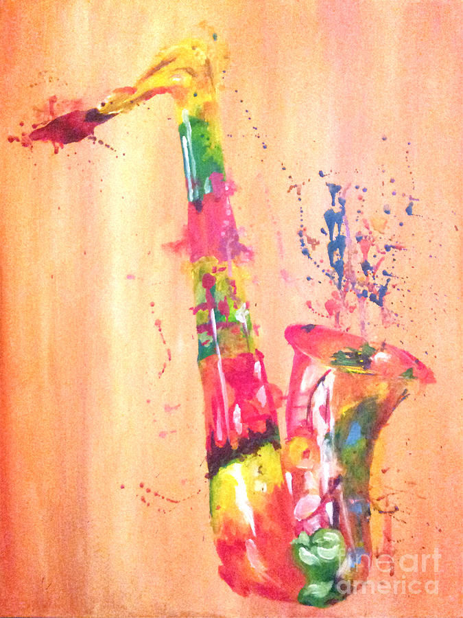 Saxophone Painting by Ashley Bauer