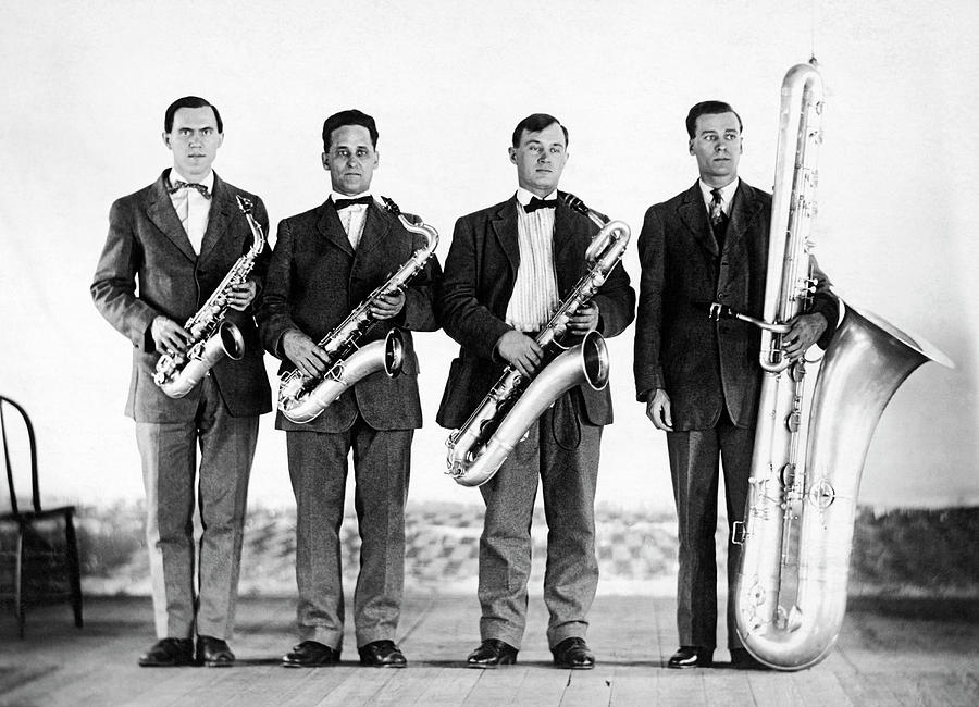 Saxophone Band by Underwood Archives