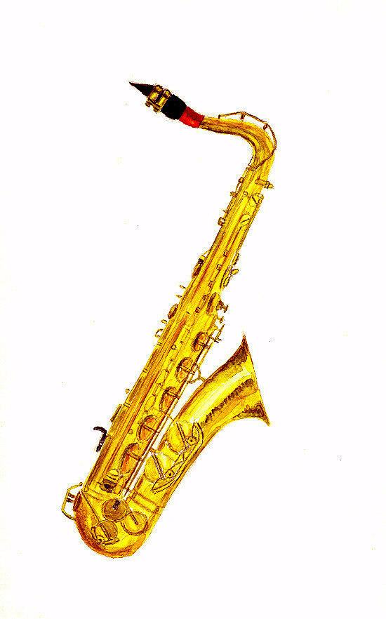 Saxophone Painting by Michael Vigliotti