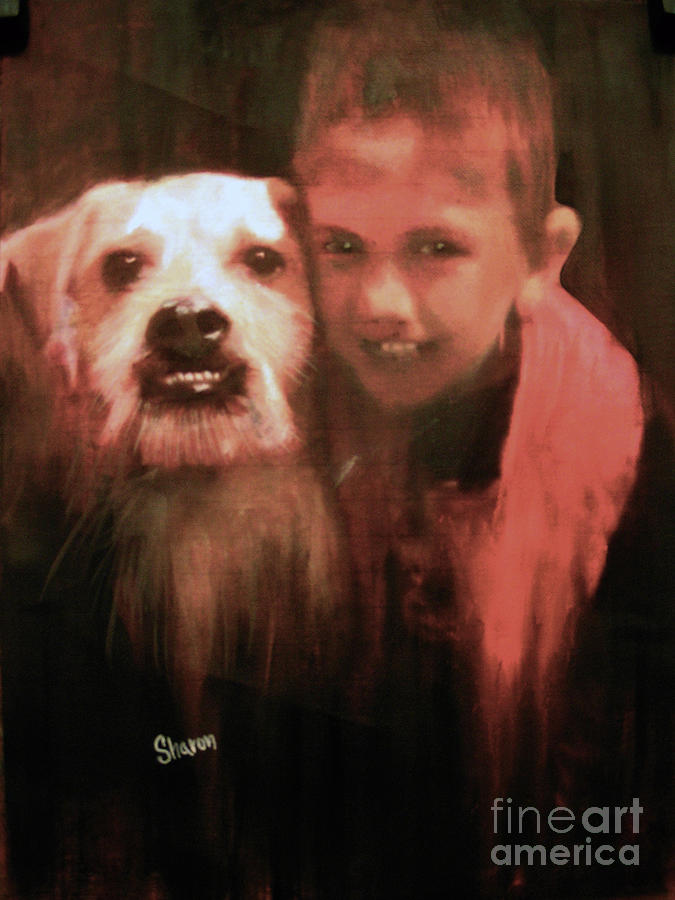 My Great Grandson Painting - Say Cheese by Sharon Burger