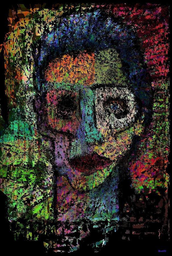 Portrait Painting - Say Good Nighty To Mr Bitey  by Brett Sixtysix