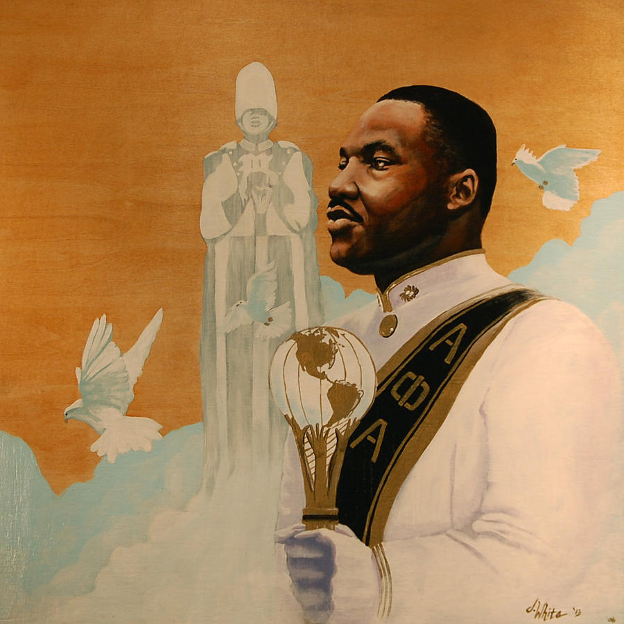 Martin Luther King Painting - Say I Was A Drum Major by Jerome White