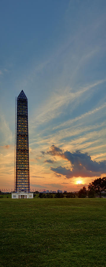 Scaffolding At Sunset by Metro DC Photography