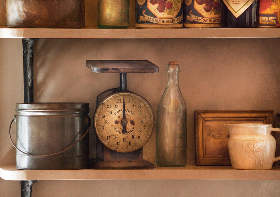 Kitchen Photograph - Scale - The Family Scale by Mike Savad