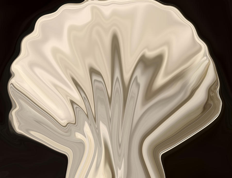 Shell Digital Art - Scallop Shell by Chad Miller
