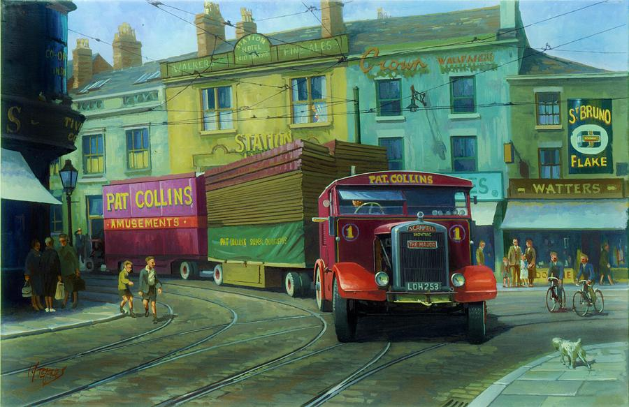 Truck Painting - Scammell Showtrac by Mike Jeffries
