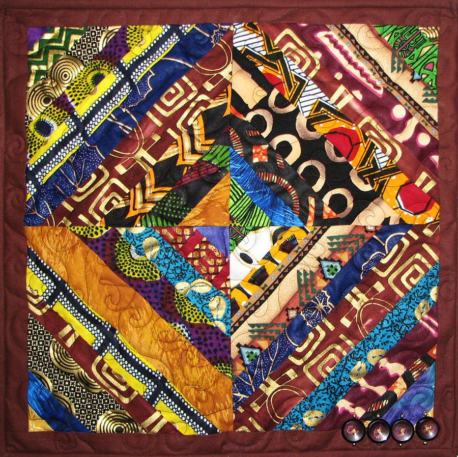 Art Quilt Tapestry - Textile - Scandalous by Aisha Lumumba