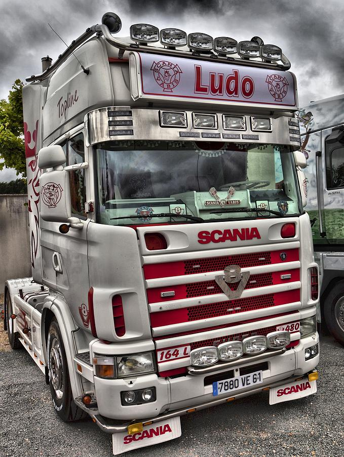Truck Cab Inside >> Scania V8 Cabover Ludo Photograph by Mick Flynn