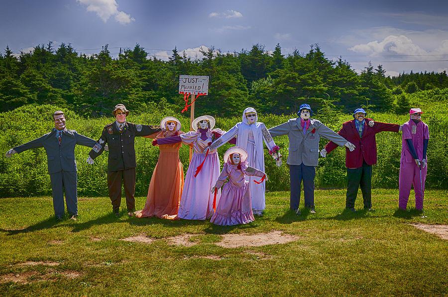 Scarecrow Photograph - Scarecrow Wedding by Garry Gay