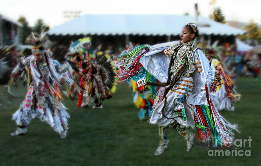 Native American Photograph - Scarf Fancy Dancer by Scarlett Images Photography
