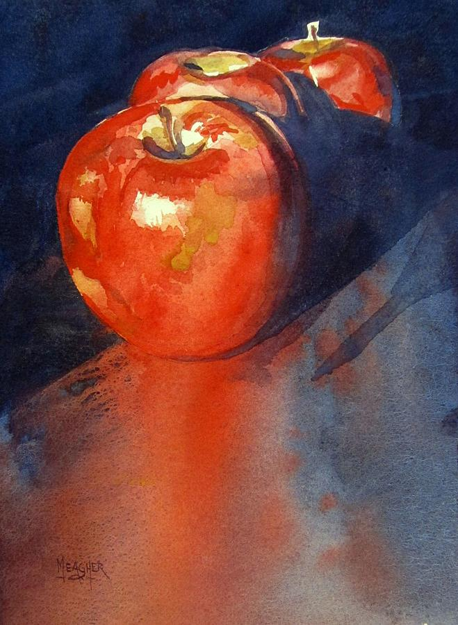 Red Apple Painting - Scarlet Blush by Spencer Meagher