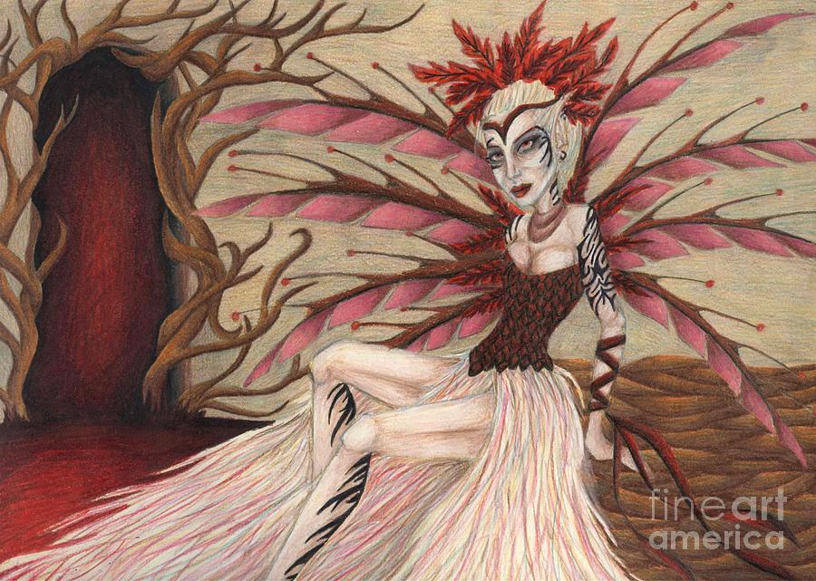 Scarlet Drawing - Scarlet by Coriander  Shea