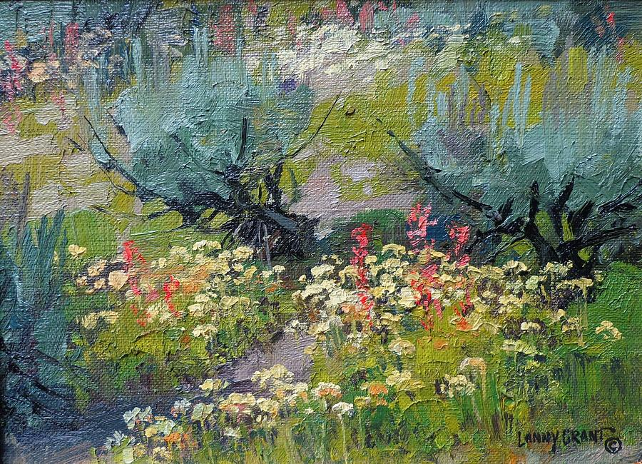 Landscape Painting - Scarlet Gilia And Buckwheat by Lanny Grant