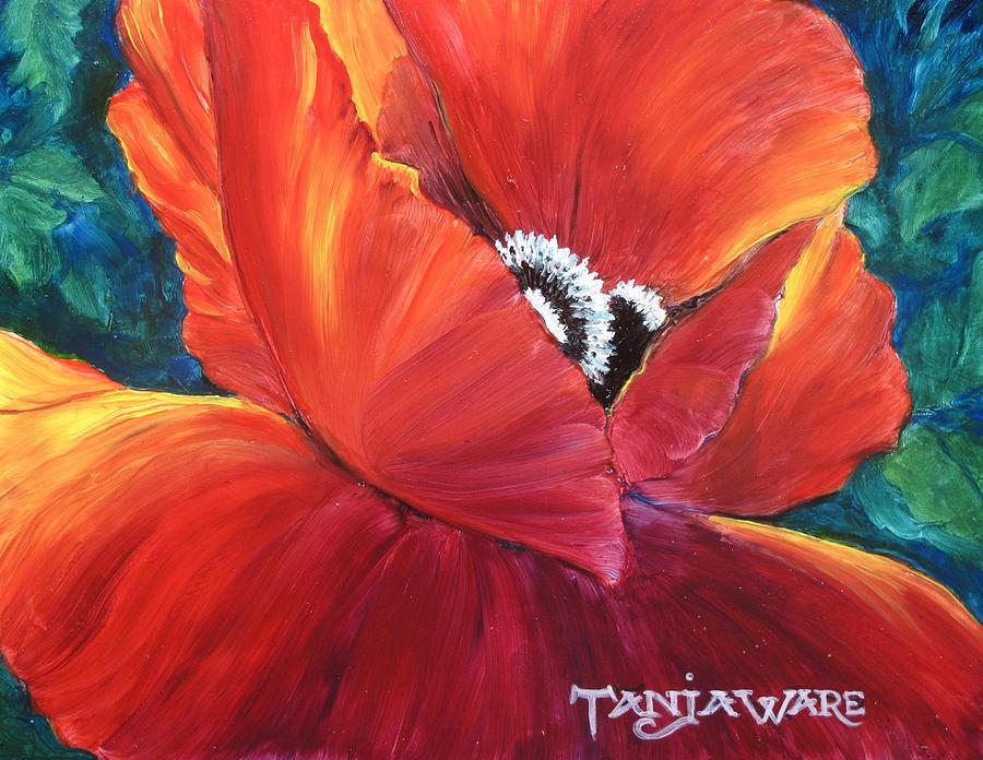 Poppy Painting - Scarlet Poppy by Tanja Ware