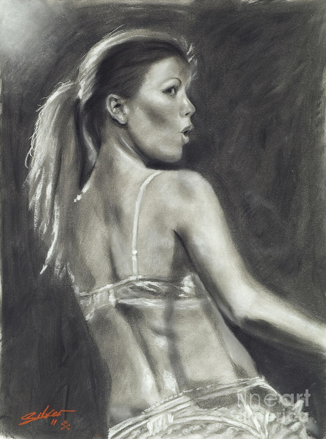 Paintings Pastel - Scarlett Dlyte I by John Silver
