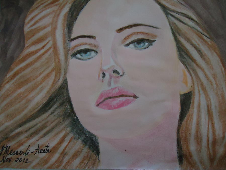 Actress Painting - Scarlett Johannson by Fladelita Messerli-
