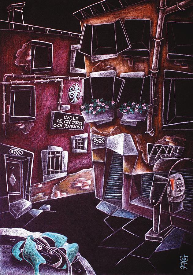 Venice Painting - SCarPe Da TAnGo - Contemporary Venetian Artist - Modern Art by Arte Venezia