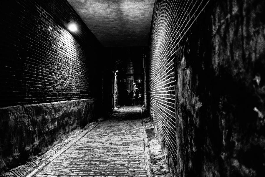 First Friday Photograph - Scary Dark Alley by Louis Dallara