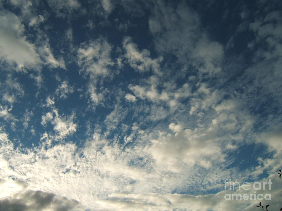 Clouds Photograph - Scattered Clouds by Margaret McDermott