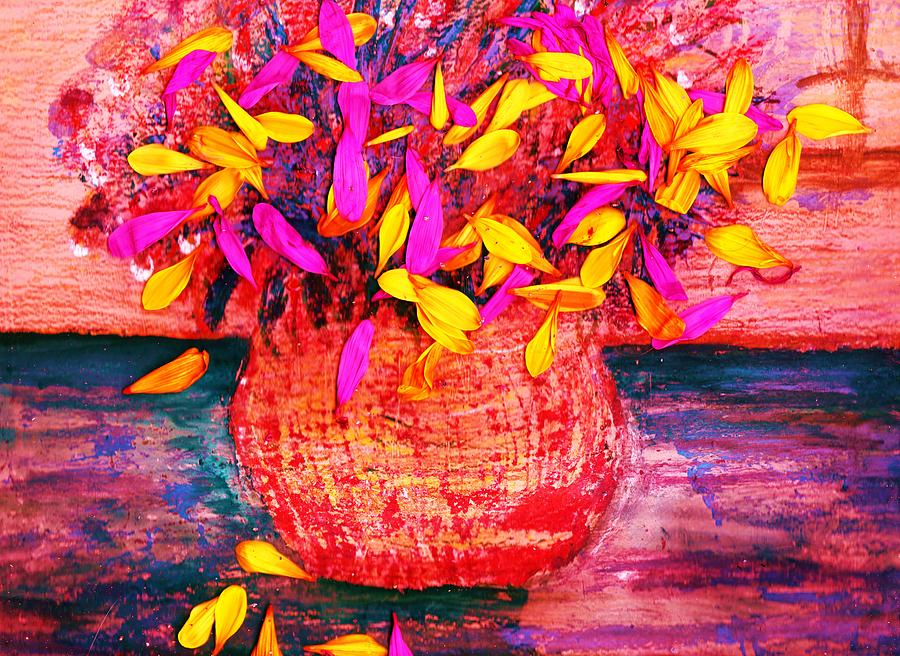 Petals Painting - Scattered Petals Impression by Anne-Elizabeth Whiteway
