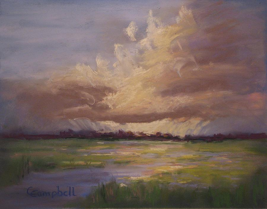 Landscape Painting - Scattered Showers by Cecelia Campbell