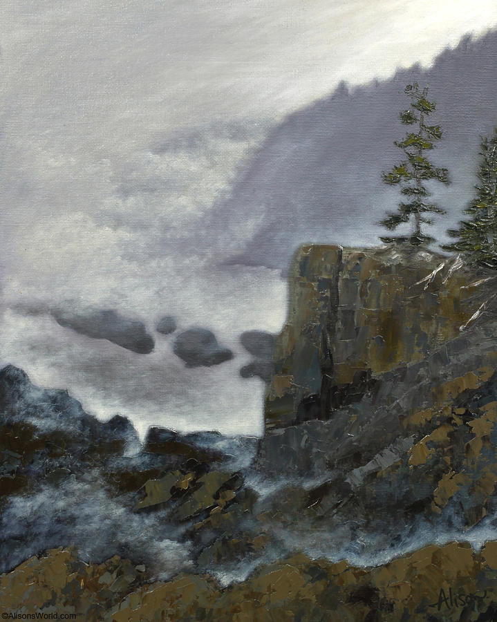 Quoddy Painting - Scene From Quoddy Trail by Alison Barrett Kent