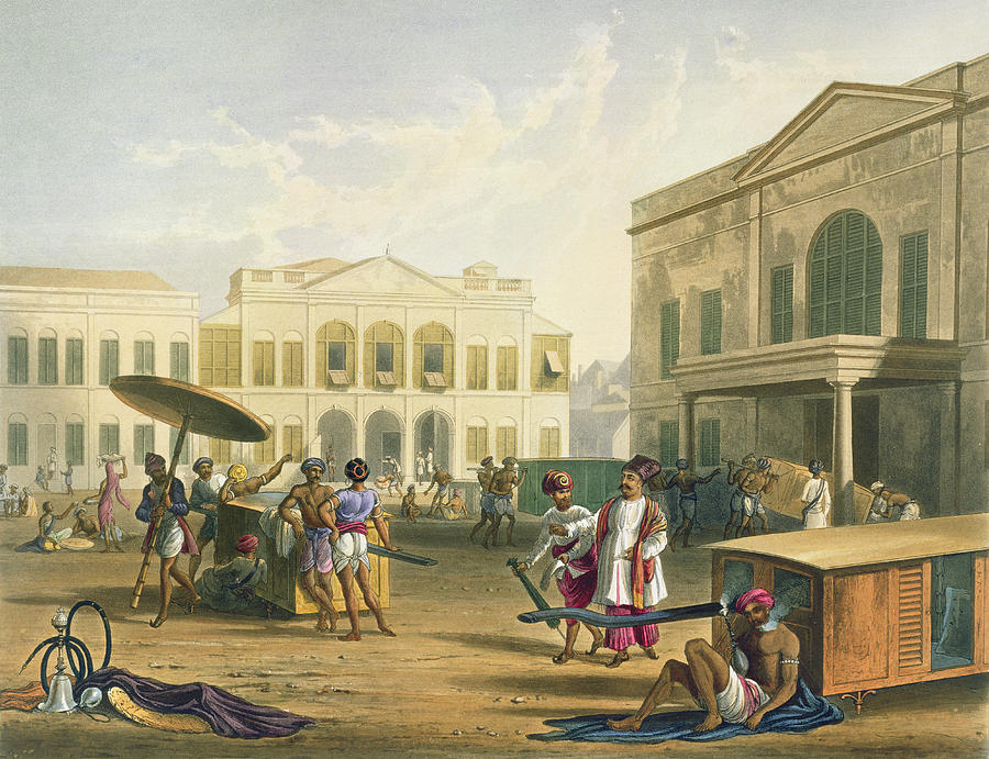 Scene In Bombay, From Volume I Drawing by Captain Robert M. Grindlay