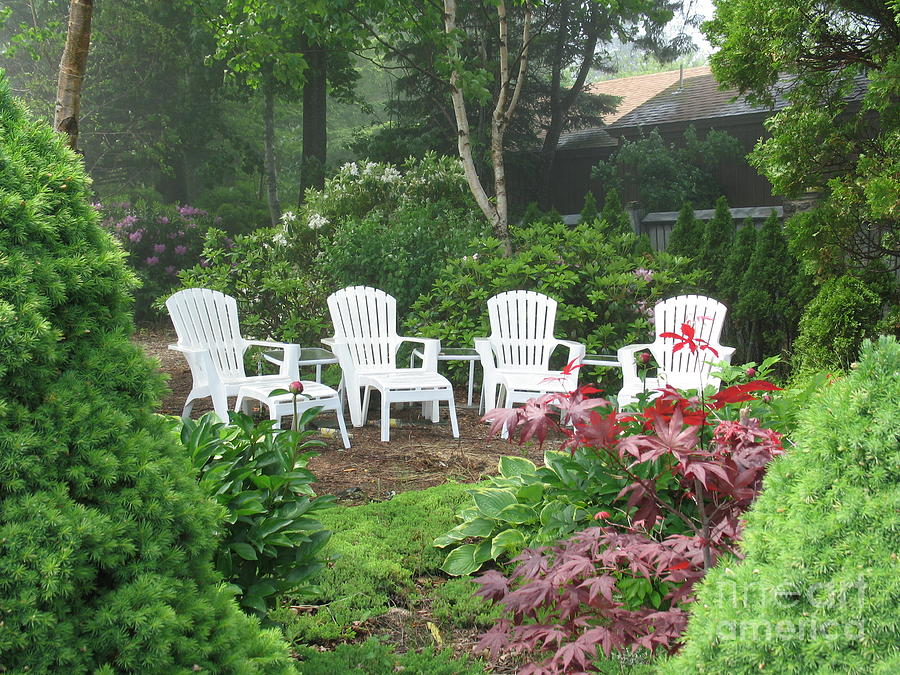 Chair Photograph - Scenes Of Maine by Victoria  Dauphinee