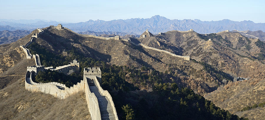 Great Wall Photograph - Scenic Great Wall Of China by Brendan Reals