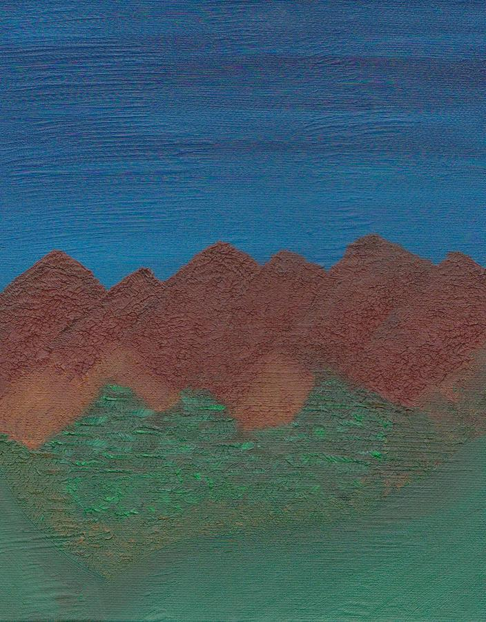 Landscape Painting - Scenic Mountains by Jill Christensen