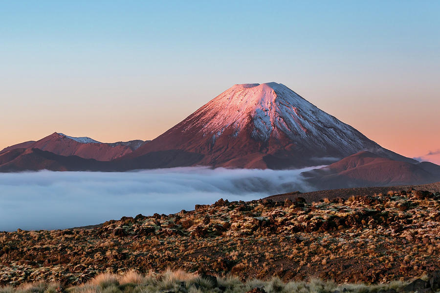 Scenic Landscape With Ngauruhoe Volcano Photograph by Matteo Colombo