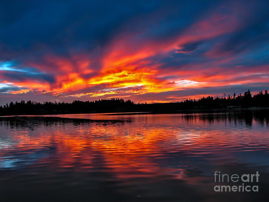 Golden Photograph - Scenic Marine Sunrise by Robert Bales