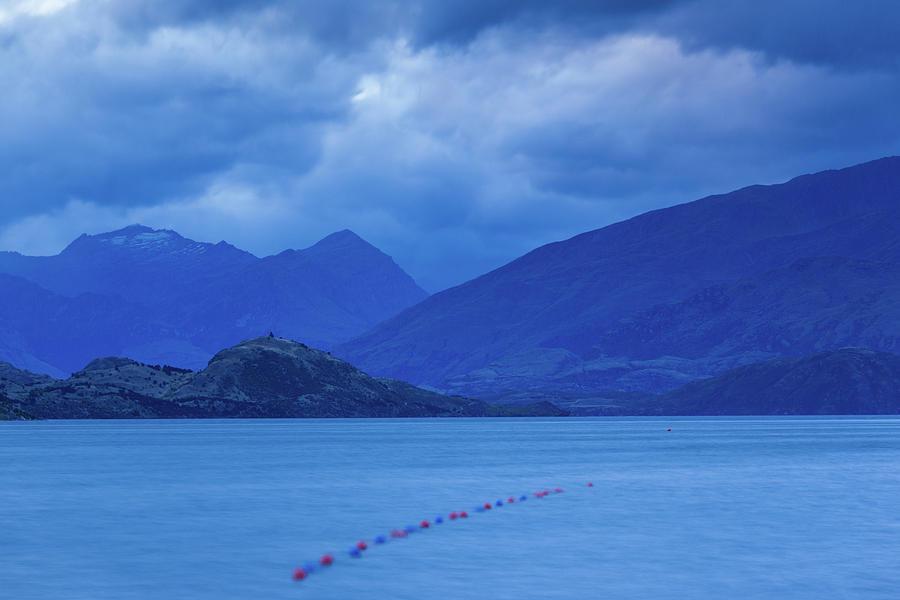 Horizontal Photograph - Scenic View Of A Lake At Dusk, Lake by Panoramic Images