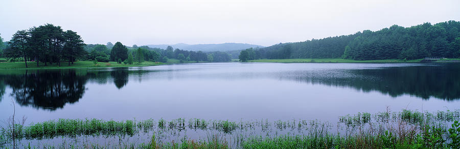 Horizontal Photograph - Scenic View Of A Lake, Bernheim by Panoramic Images
