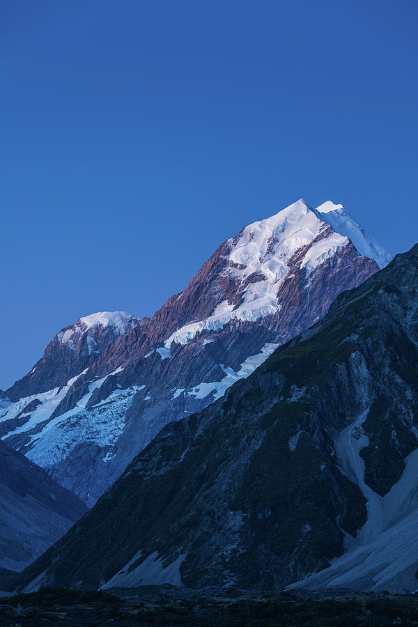 Vertical Photograph - Scenic View Of Mountain At Dusk by Panoramic Images